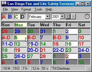 firefighter shift calendar 2018